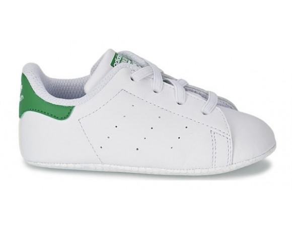 0b3a551dedf Bestel Adidas Originals Stan Smith Crib Wit/Groen Online Bij | Sportskoen.nl