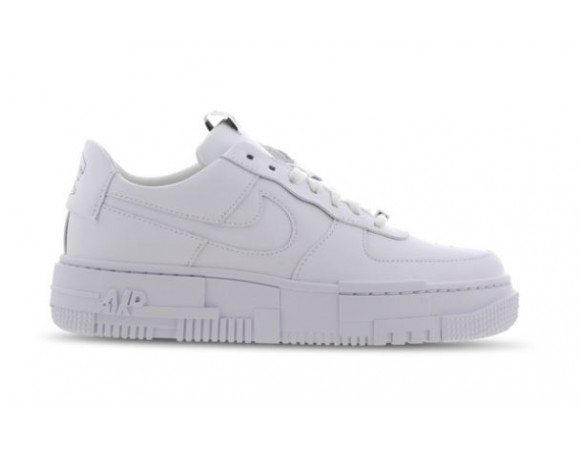 Nike Air Force 1 Trainers White Black Smile - Hers trainers