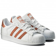 Adidas Superstar Dames Sneakers Wit Oranje